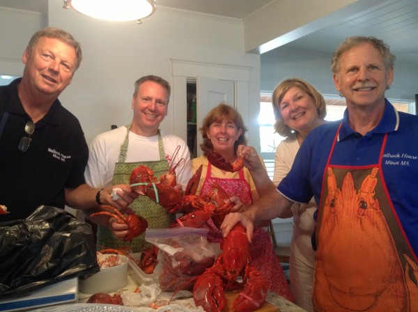 L-R: Kitchen King, Hubster, Beemie, Family Matriarch and Tail Man (the lobster tails were this in-law's specialty)