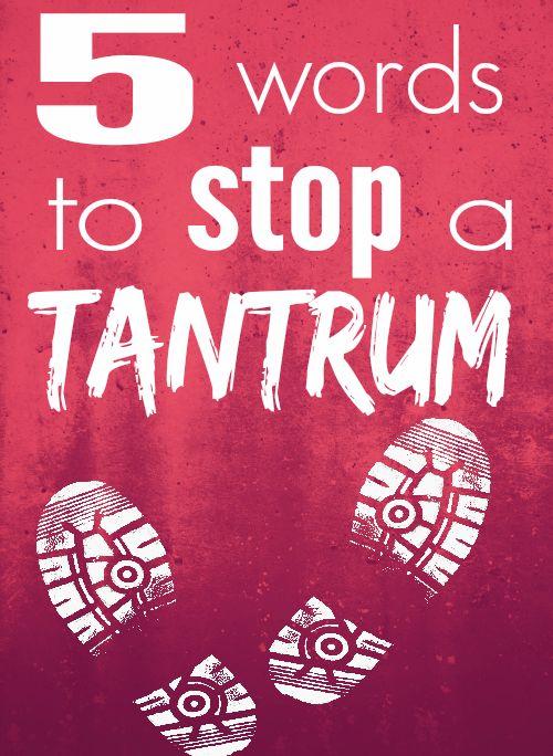 tantrum sign