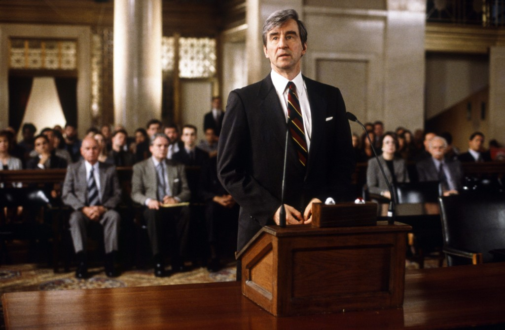 "LAW & ORDER -- ""Vaya Con Dios"" Episode 24 -- Air Date 05/24/2000 -- Pictured: Sam Waterston as Executive Assistant District Attorney Jack McCoy  (Photo by Jessica Burstein/NBC/NBCU Photo Bank via Getty Images)"